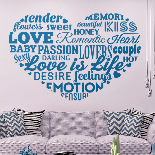 Wall Stickers: Typeface on love