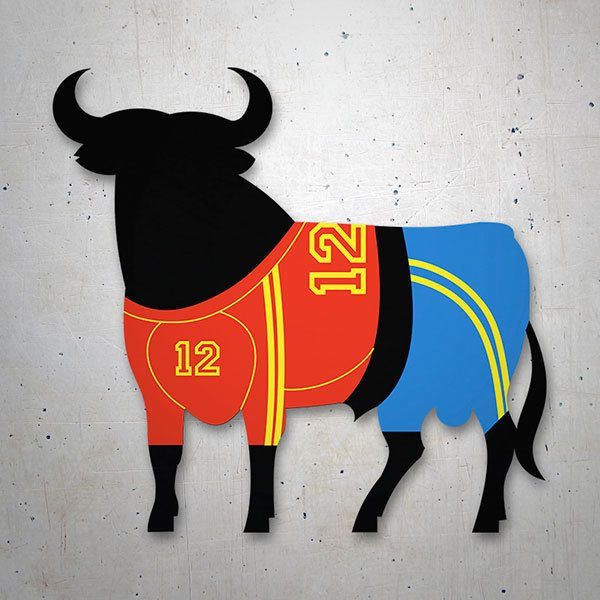 Car & Motorbike Stickers: Bull Osborne Spanish football team
