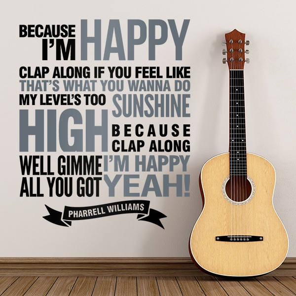 Wall Stickers: Happy