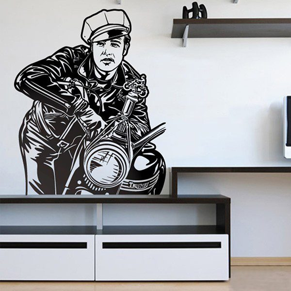 Wall Stickers: Marlon Brando - The wild one