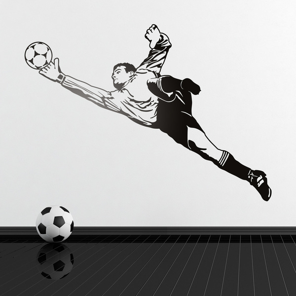 Wall Stickers: Soccer goalkeeper