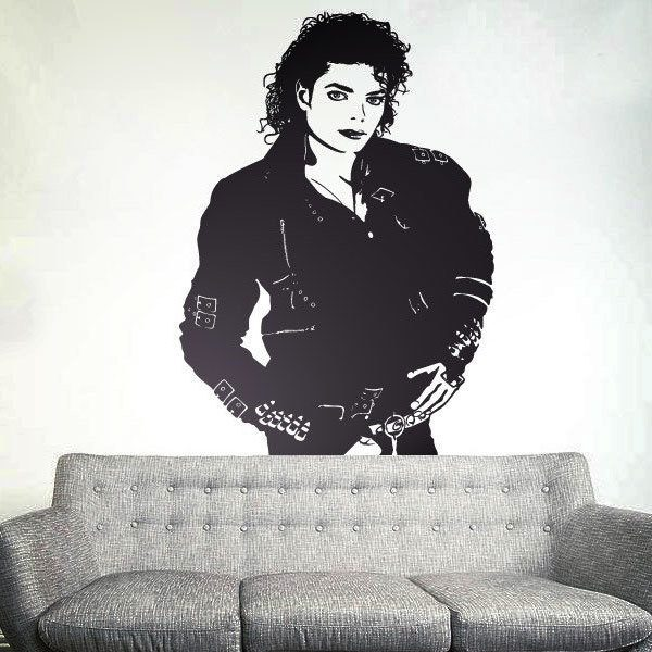 Wall Stickers: Michael Jackson - Black jacket