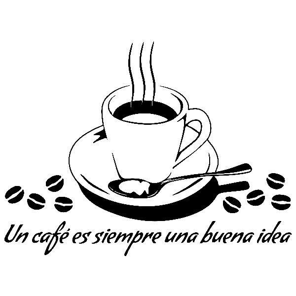 Wall Stickers: A coffee is always a good idea - Spanish