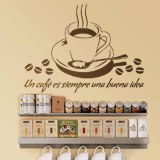 Wall Stickers: A coffee is always a good idea - Spanish 2