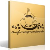 Wall Stickers: A coffee is always a good idea - Spanish 3