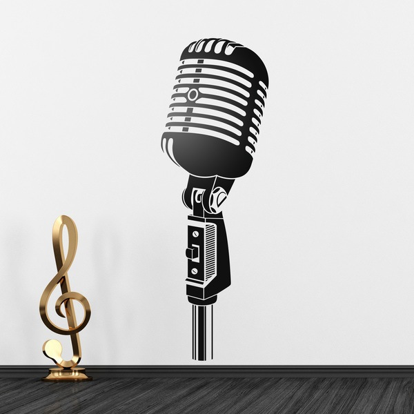 Wall Stickers: Vintage microphone