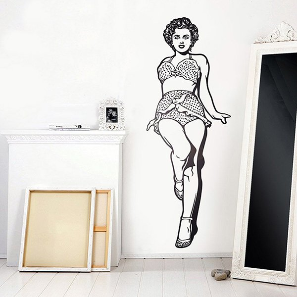 Wall Stickers: Marilyn Monroe in bikini