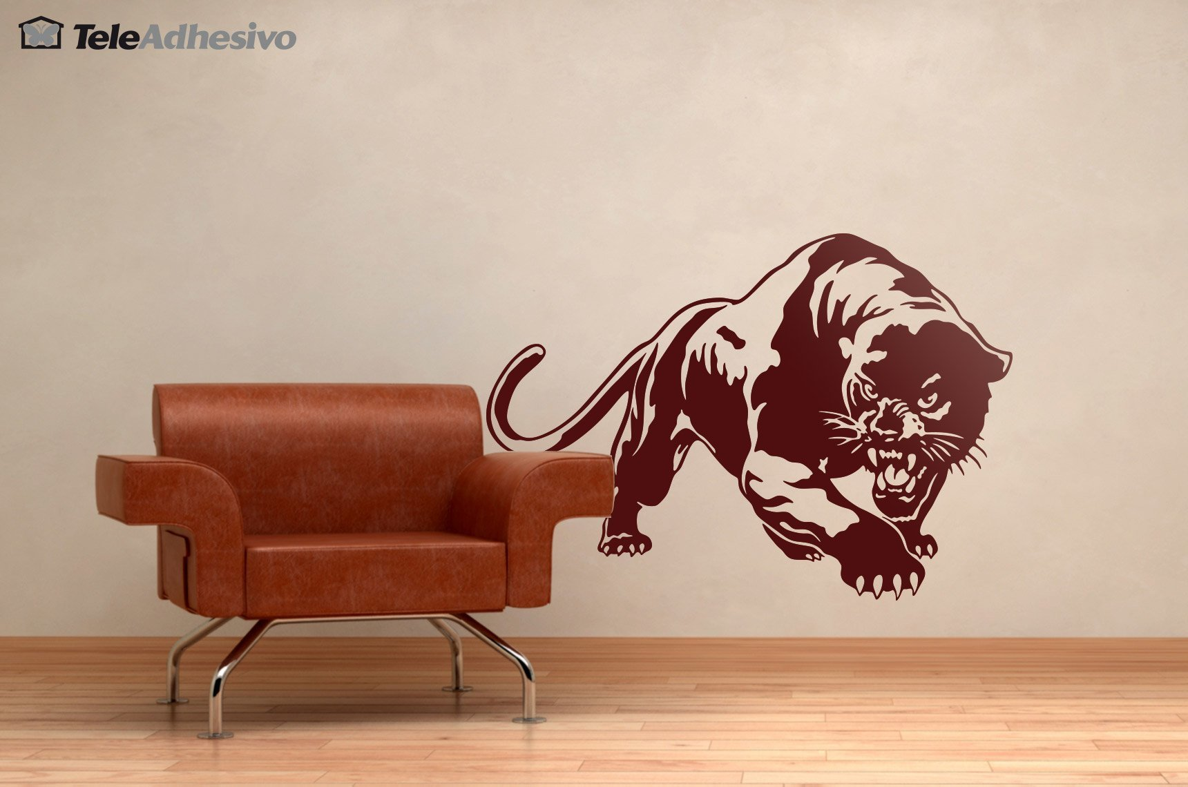 Wall sticker of a black panther for Black panther mural