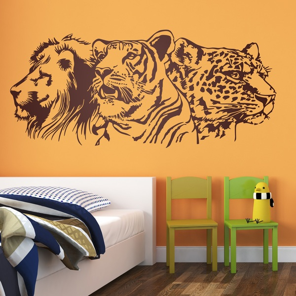 Wall Stickers: Lion, tiger and leopard