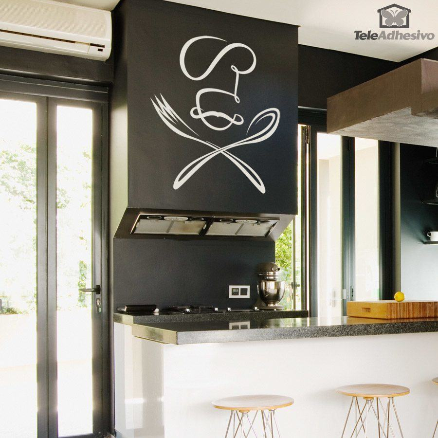 Wall Stickers: Chef spoon and fork