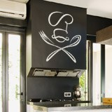 Wall Stickers: Chef spoon and fork 2