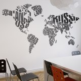 Wall Stickers: Typographic world map 2
