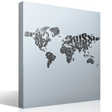 Wall Stickers: Typographic world map 3