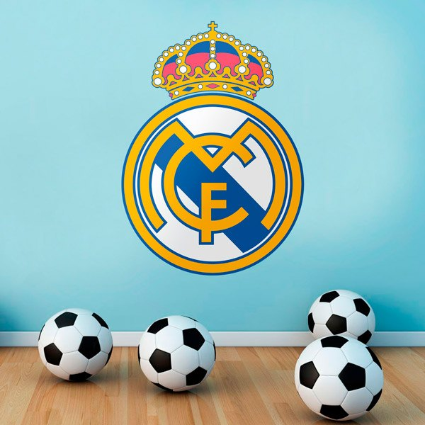 Wall Stickers: Real Madrid Badge color 1