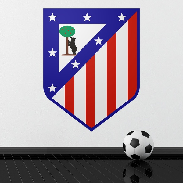 Wall Stickers: Atlético de Madrid shield color