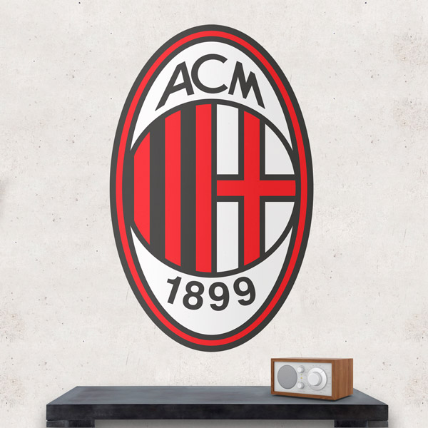 Wall Stickers: AC Milan Badge color