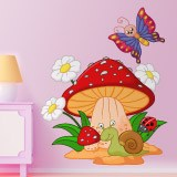 Stickers for Kids: Mushroom, daisies, snail and butterfly 3