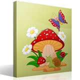 Stickers for Kids: Mushroom, daisies, snail and butterfly 4