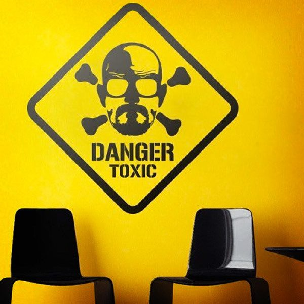Wall Stickers: Heisenberg Danger Toxic 0