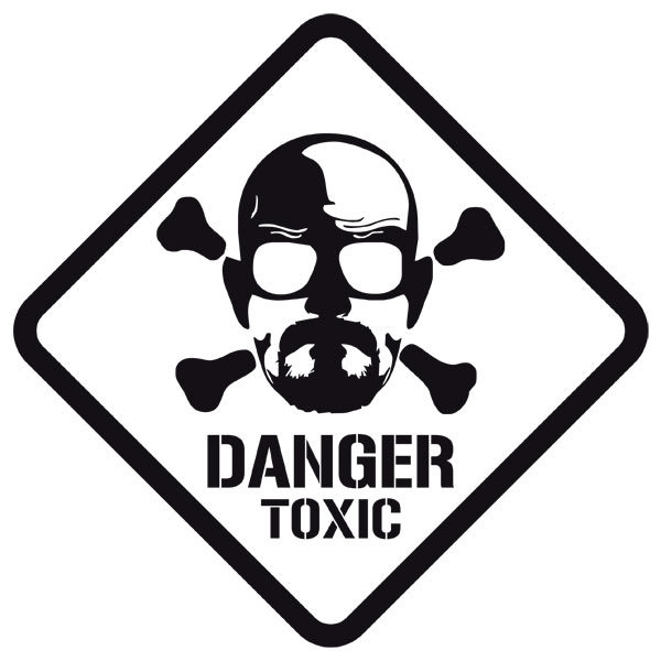 Wall Stickers: Heisenberg Danger Toxic
