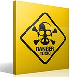 Wall Stickers: Heisenberg Danger Toxic 2