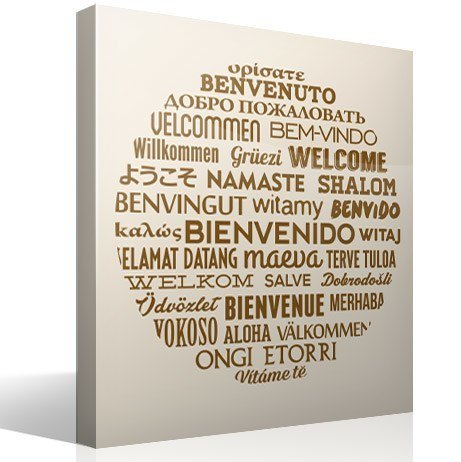 Wall Stickers: Welcome to Languages