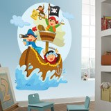 Stickers for Kids: Pirates sailing on his boat 3