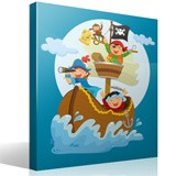 Stickers for Kids: Pirates sailing on his boat 4