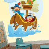 Stickers for Kids: Pirates sailing on his boat 5