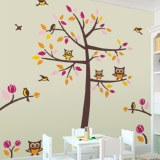 Wall Stickers: Tree with birds and owls 3