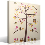 Wall Stickers: Tree with birds and owls 4