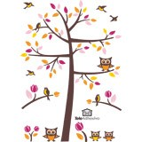 Wall Stickers: Tree with birds and owls 5