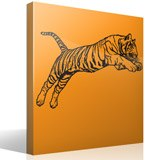 Wall Stickers: Bengal Tiger jump 3