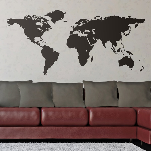 Wall Stickers: World map - Silhouette world map