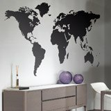 Wall Stickers: World map - Silhouette 2
