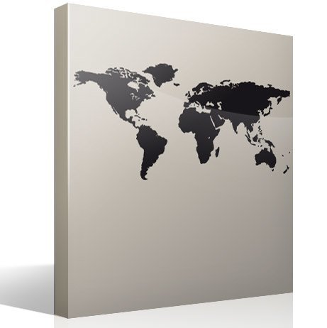 Wall Stickers: World map - Silhouette