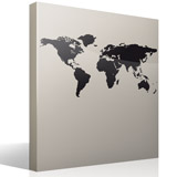 Wall Stickers: World map - Silhouette 3