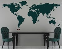 Wall Stickers: World map - Silhouette 4