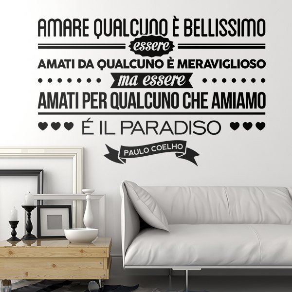 Wall Stickers: Amare qualcuno é bellissimo...