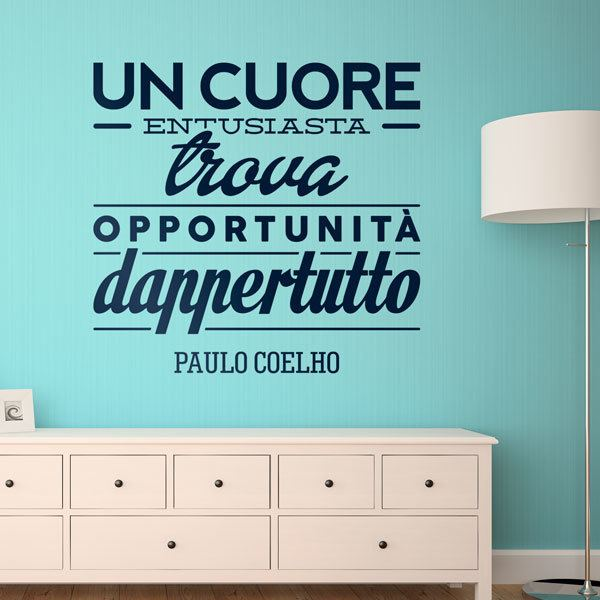 Wall Stickers: Un cuore entusiasta trova opportunità dappertutto