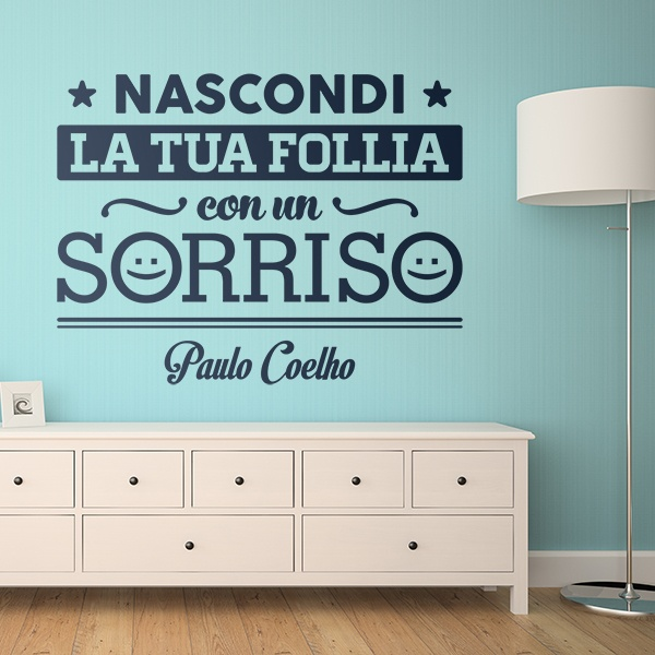 Wall Stickers: Nascondi la tua follia con un sorriso