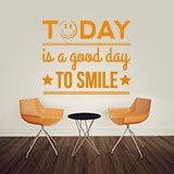 Wall Stickers: Today is a good day to smile 2