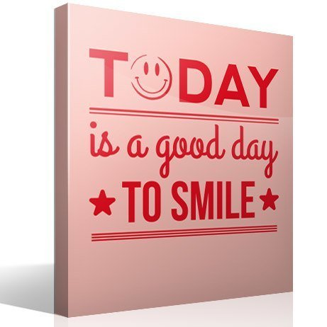 Wall Stickers: Today is a good day to smile