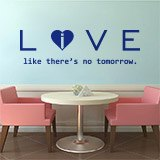 Wall Stickers: Love - live like there´s no tomorrow 2