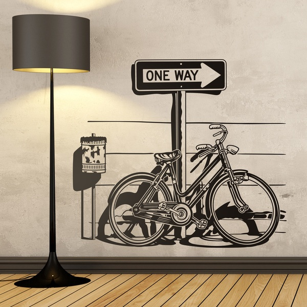 Wall Stickers: Bicyclette on traffic sign