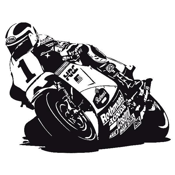 Wall Sticker Racing Motorcycle Muraldecal Com