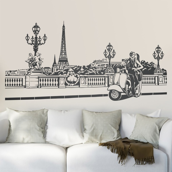 Wall Stickers: Romantic scene in Paris