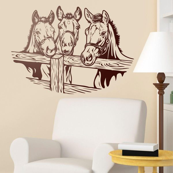Wall Stickers: three horses