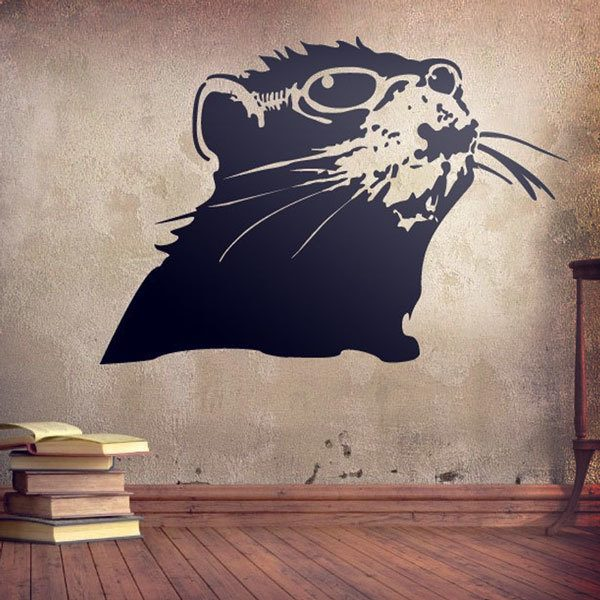 Wall Stickers: Bansky rat
