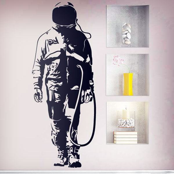 Wall Stickers: Banksy Graffiti Astronaut